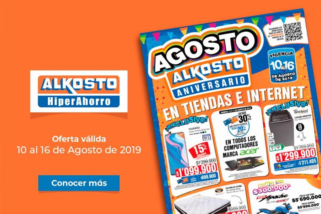 Ofertas Alkosto: 10 al 16 de Agosto de 2019